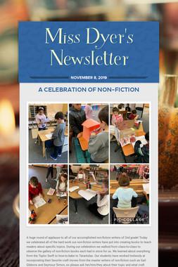 Miss Dyer's Newsletter