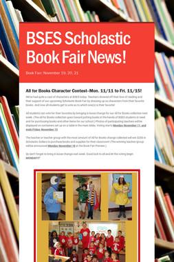 BSES Scholastic Book Fair News!