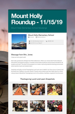 Mount Holly Roundup - 11/15/19