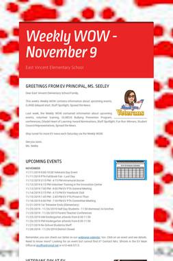 Weekly WOW - November 9