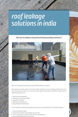 roof leakage solutions in india