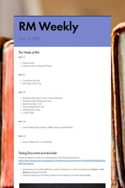 RM Weekly