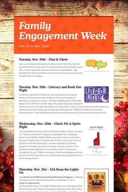 Family Engagement Week