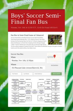 Boys' Soccer Semi-Final Fan Bus