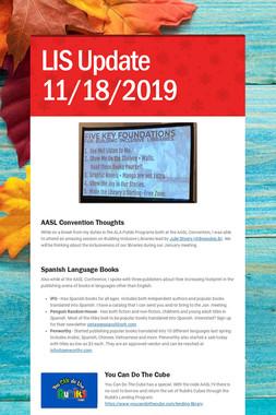 LIS Update 11/18/2019