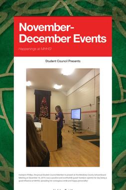 November-December Events
