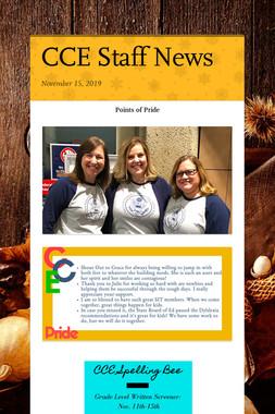 CCE Staff News