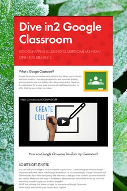 Dive in2 Google Classroom