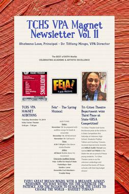 TCHS VPA Magnet Newsletter  Vol. 11