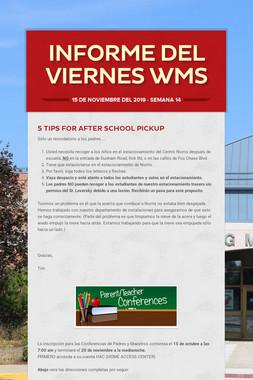 Informe del viernes     WMS