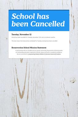 School has been Cancelled