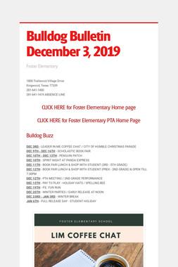 Bulldog Bulletin  December 3, 2019