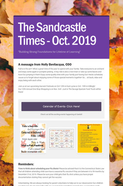 The Sandcastle Times - Oct. 2019