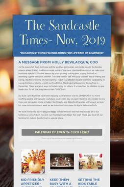 The Sandcastle Times- Nov. 2019