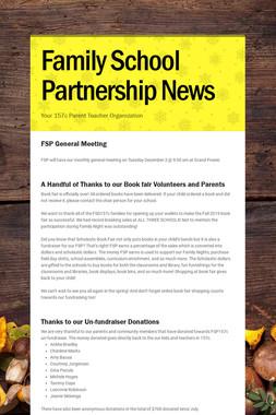 Family School Partnership News
