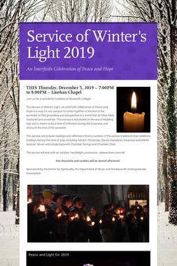 Service of Winter's Light 2019