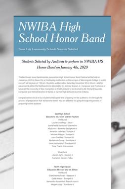 NWIBA High School Honor Band
