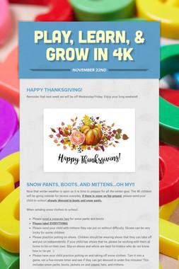 Play, Learn, & Grow in 4K