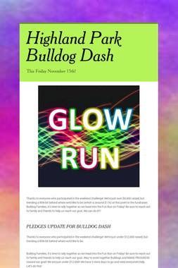 Highland Park Bulldog Dash