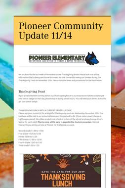 Pioneer Community Update 11/14