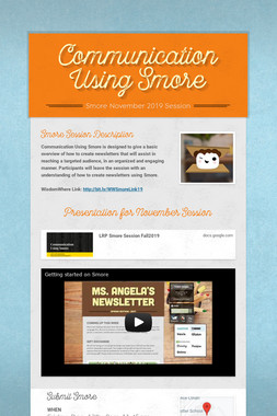 Communication Using Smore