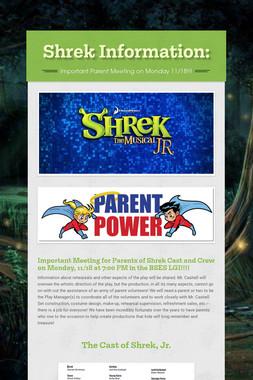 Shrek Information: