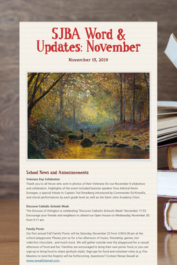 SJBA Word & Updates: November