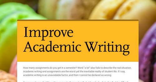 Improve Academic Writing