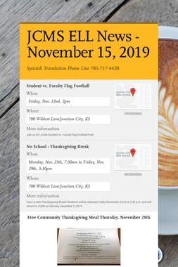 JCMS ELL News - November 15, 2019