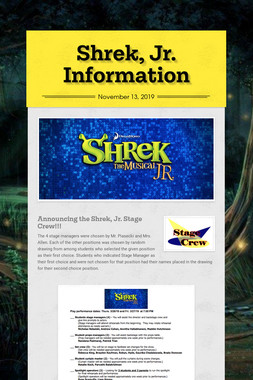 Shrek, Jr. Information