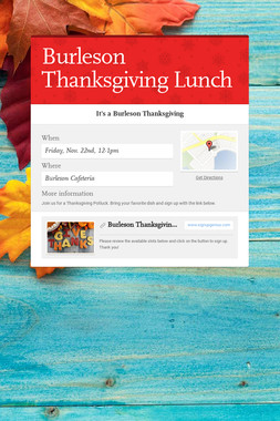 Burleson Thanksgiving Lunch