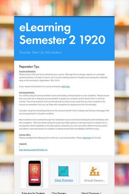 eLearning Semester 2 1920