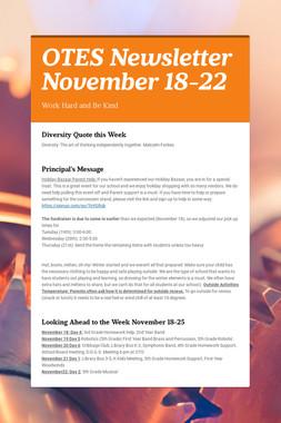 OTES Newsletter November 18-22