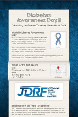 Diabetes Awareness Day!!!
