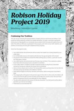 Robison Holiday Project 2019