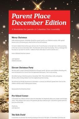 Parent Place December Edition