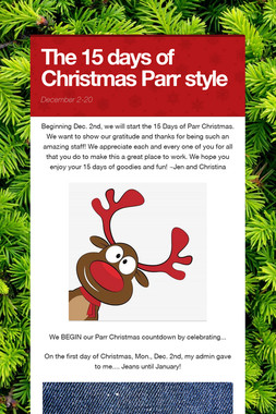 The 15 days of Christmas Parr style