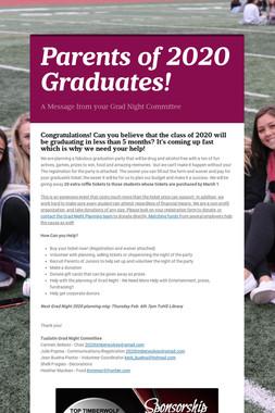 Parents of 2020 Graduates!
