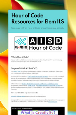 Hour of Code Resources for Elem ILS