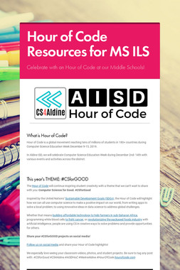 Hour of Code Resources for MS ILS