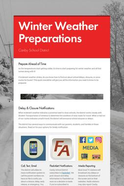 Winter Weather Preparations