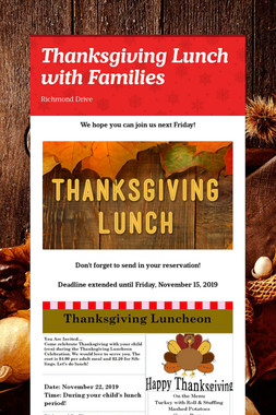 Thanksgiving Lunch with Families