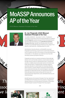 MoASSP Announces AP of the Year