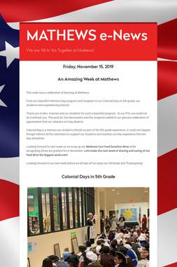 MATHEWS e-News