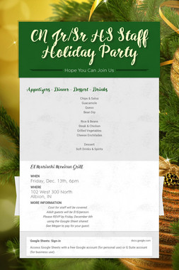 CN Jr/Sr HS Staff Holiday Party