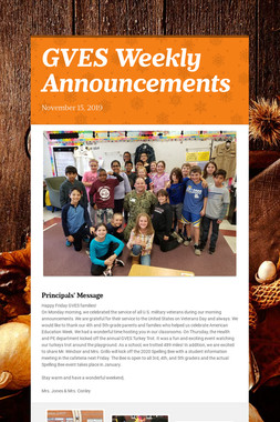 GVES Weekly Announcements