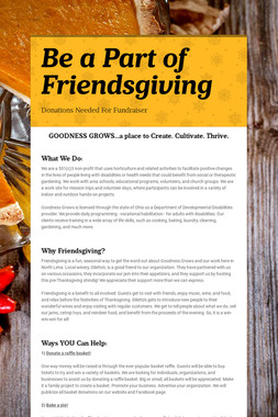 Be a Part of Friendsgiving