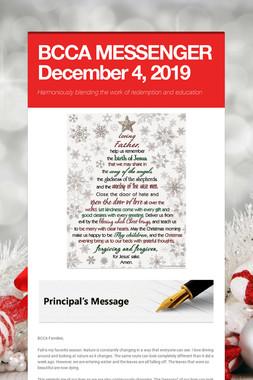 BCCA MESSENGER  December 4, 2019