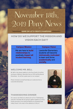 November 18th, 2019 Pony News