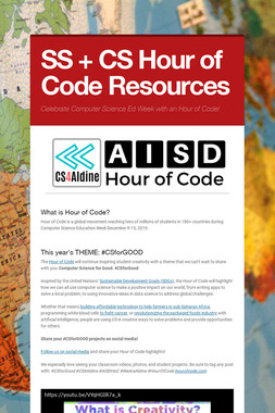SS + CS Hour of Code Resources
